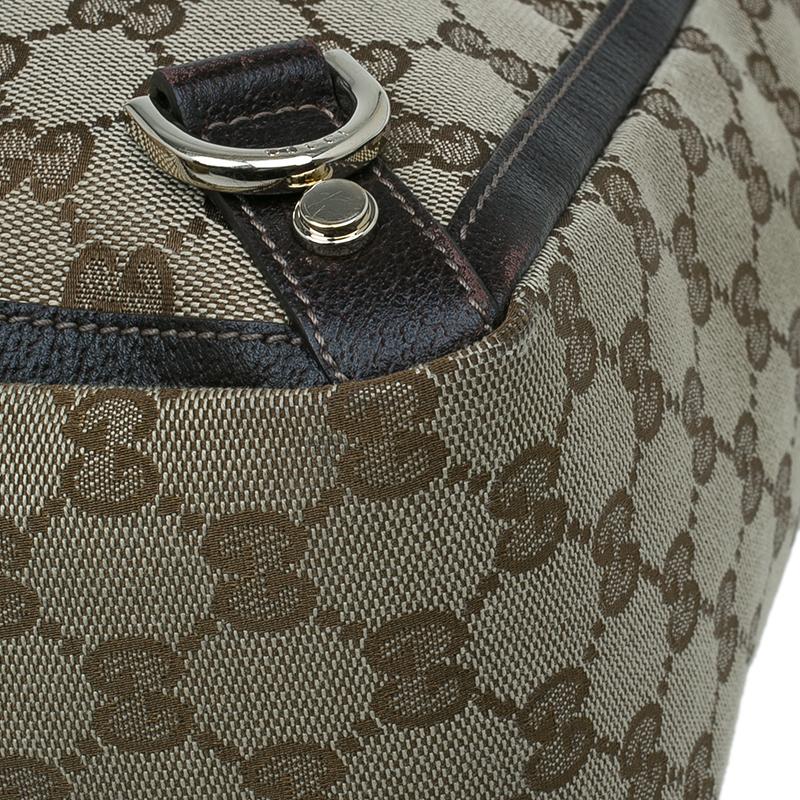 Gucci Beige GG Canvas Abbey Tote Bag