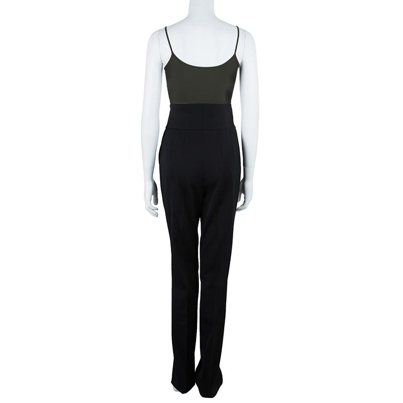 Dolce and Gabbana Black High Waist Trousers M