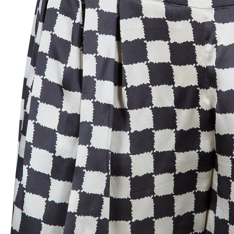 Emporio Armani Black and White Checked Blazer and Pants Set S/M