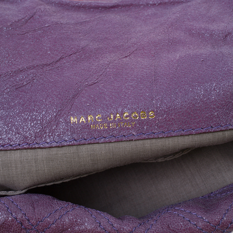 Marc Jacobs Purple/Orange Quilted Leather Oversized Pochette