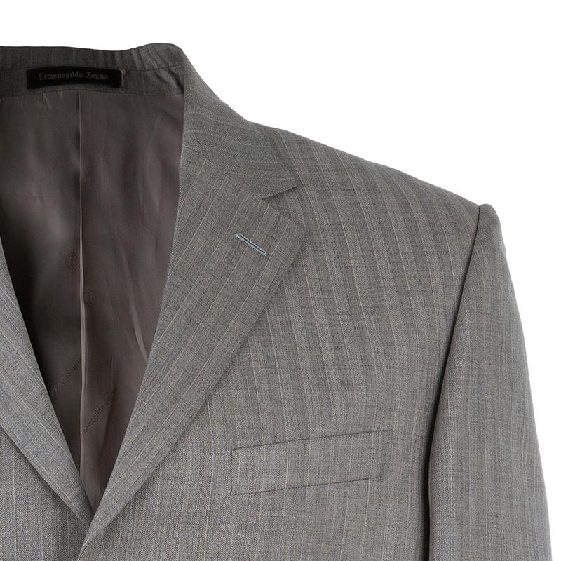 Ermenegildo Zegna Men's Grey Wool Suit L