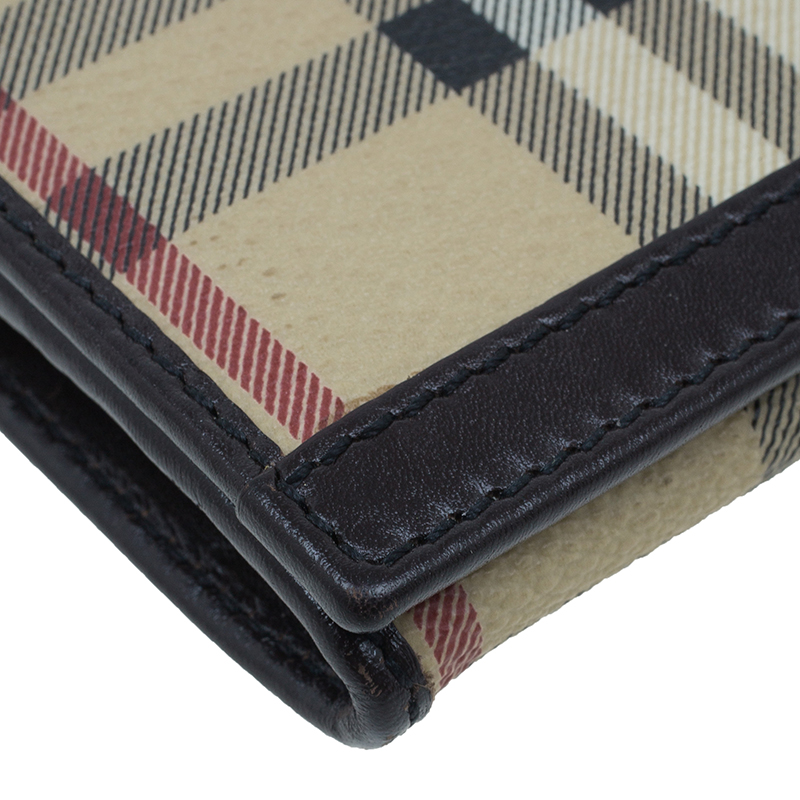 Burberry Check Haymarket Continental Wallet