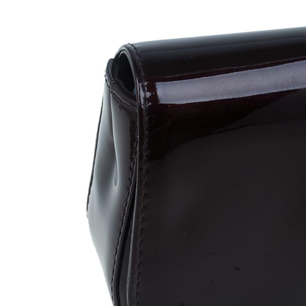Louis Vuitton Maroon Patent Sobe Clutch