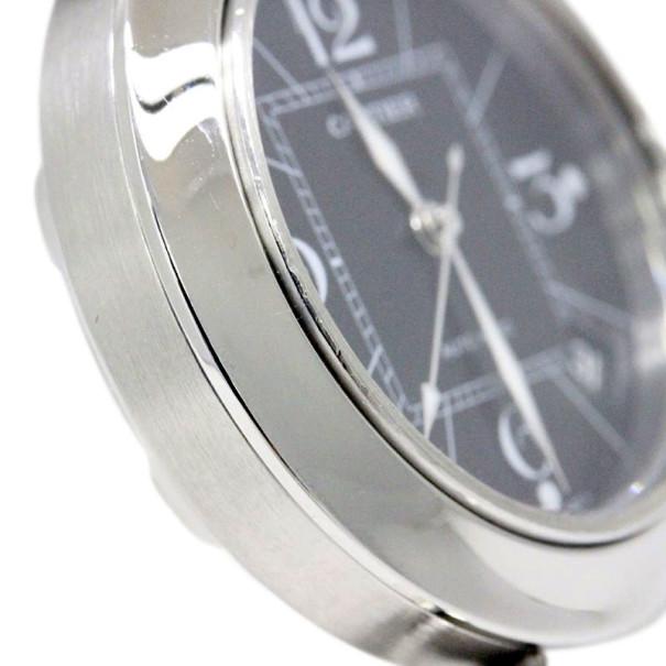 Cartier Black Stainless Steel Pasha C Unisex Wristwatch 36MM