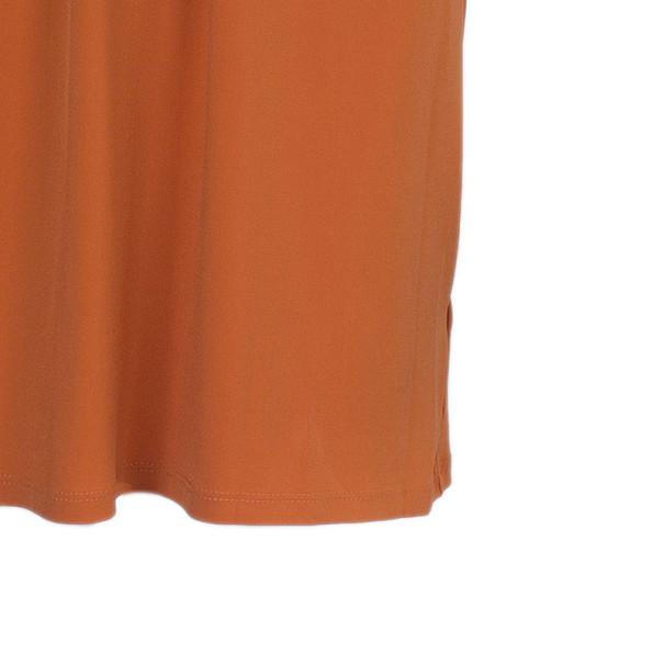 MICHAEL Michael Kors Orange Drawstring Detail Dress S