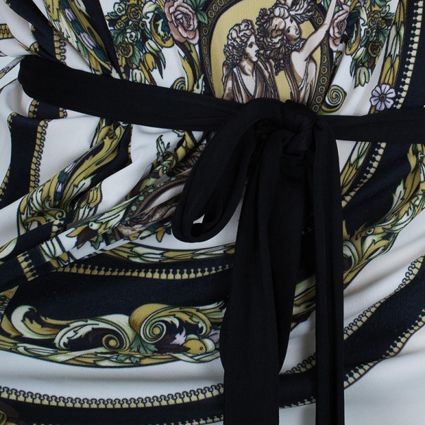 Versace Multiprint Jersey Shift Dress L