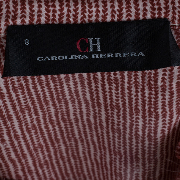 CH Carolina Herrera Silk Pleated Detail Top M