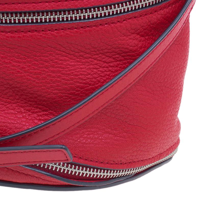Marc by Marc Jacobs Red Goatskin Leather Serpentine Shoulder Bag