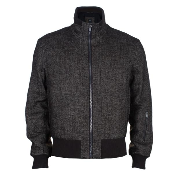 BOSS by Hugo Boss Brown Wool Bomber Men's Jacket M