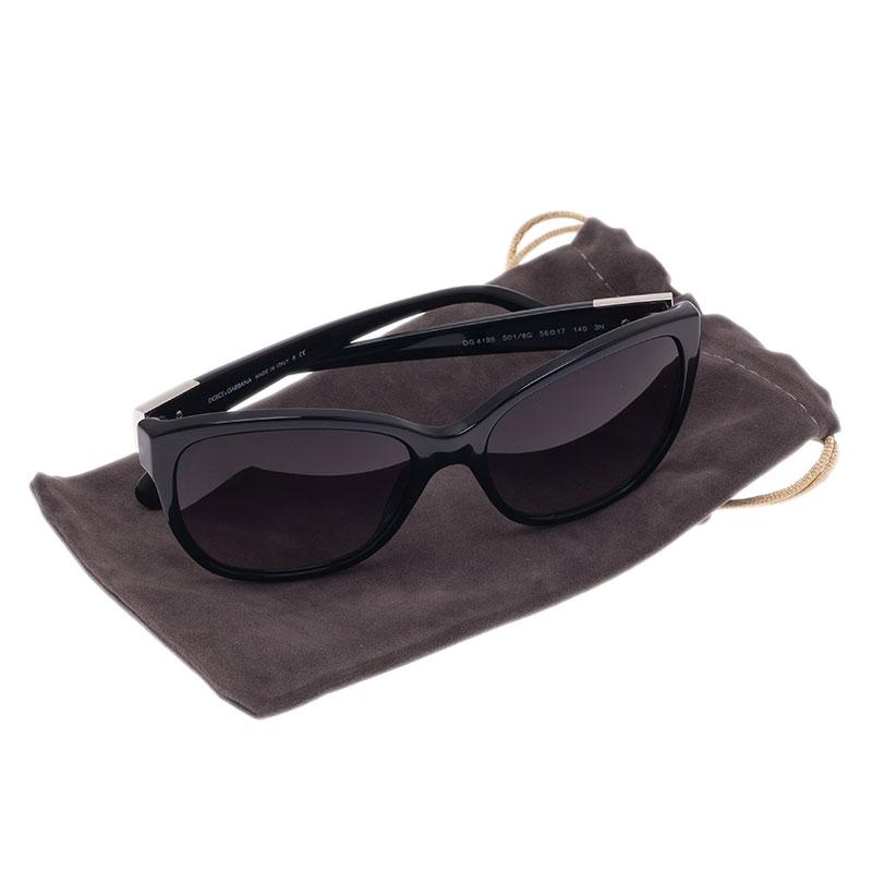 Dolce and Gabbana Black DG4195  Oversized Cat Eye Sunglasses