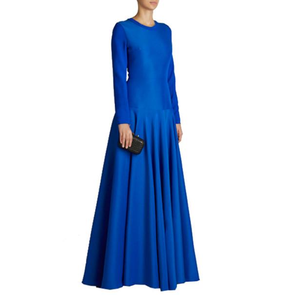 Roksanda Ilincic Laurine Royal Blue Floor-Length Dress S