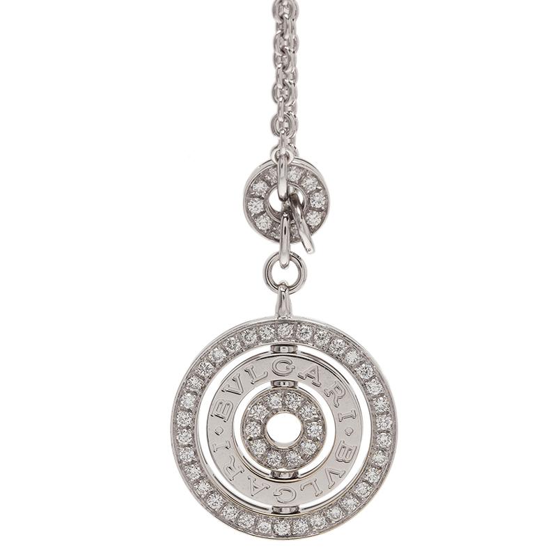 Bvlgari Cerchi Astrale Diamond White Gold Pendant Necklace