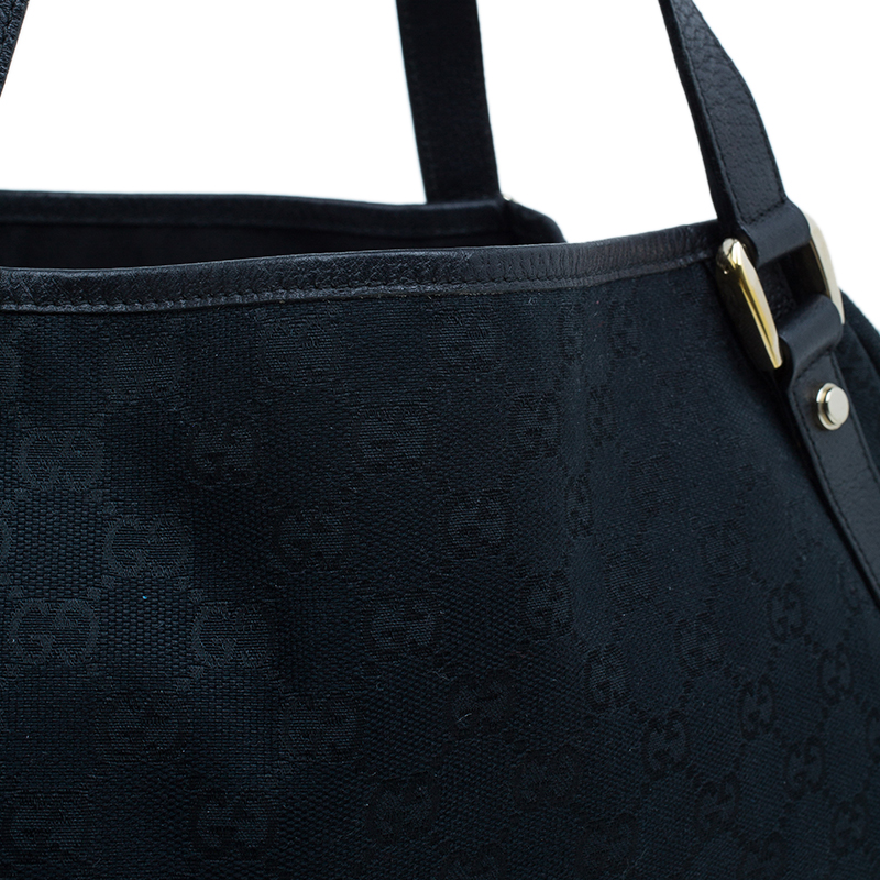 Gucci Black Monogram Canvas Abbey D-Ring Hobo