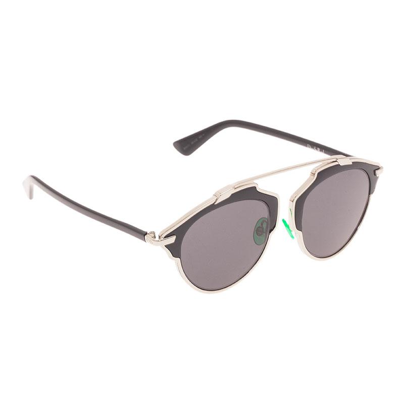 Dior Black So Real Round Sunglasses
