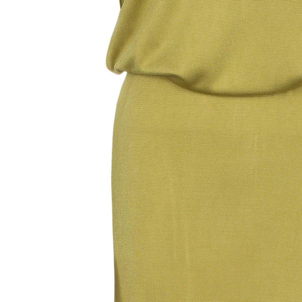 Bottega Veneta Yellow Jersey Belted Gown M