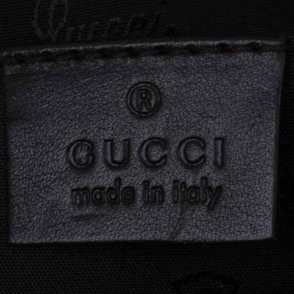 Gucci Brown GG Monogram Duchessa Small Boston Satchel