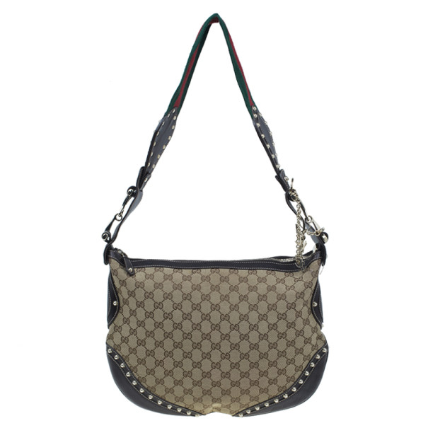 Gucci Brown Canvas Pelham Medium Shoulder Handbag