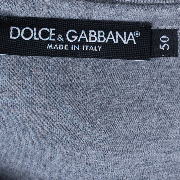 Dolce and Gabbana Men's Round Neck Cotton T-Shirt XL