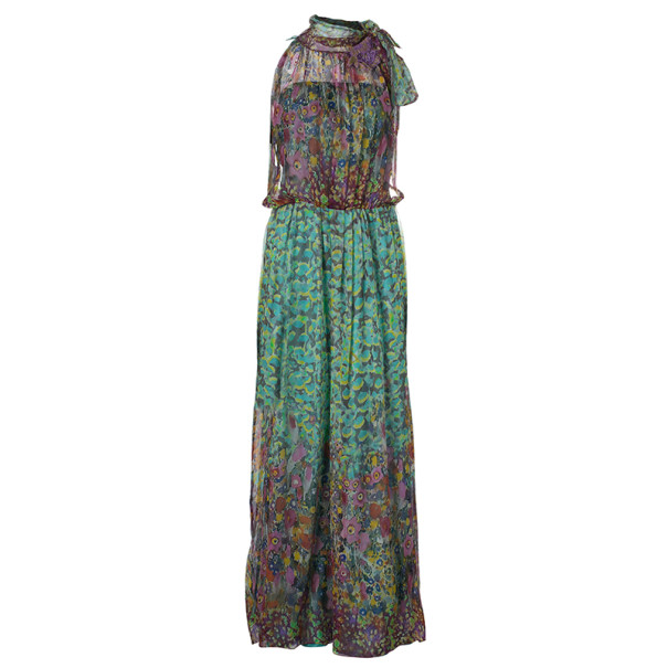Philosophy Di Alberta Ferretti Multicolor Print  Maxi Dress M