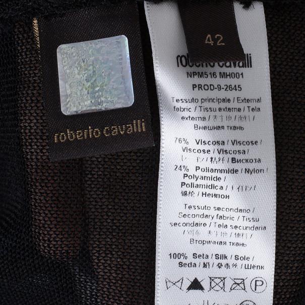 Roberto Cavalli Polka Print Knit Top