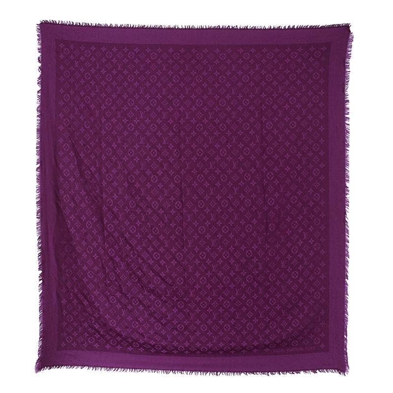 Louis Vuitton Purple Monogram Scarf