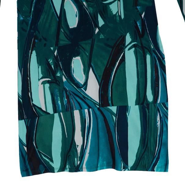 Catherine Malandrino Green Abstract Print Dress M