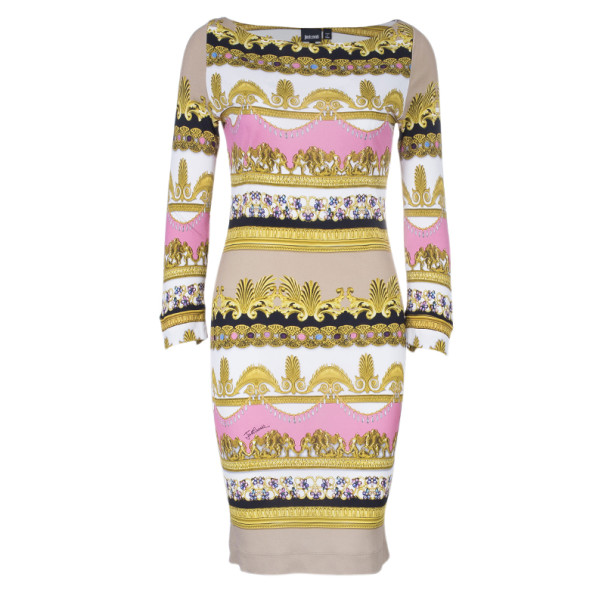 Just Cavalli Royal Print Shift Dress L