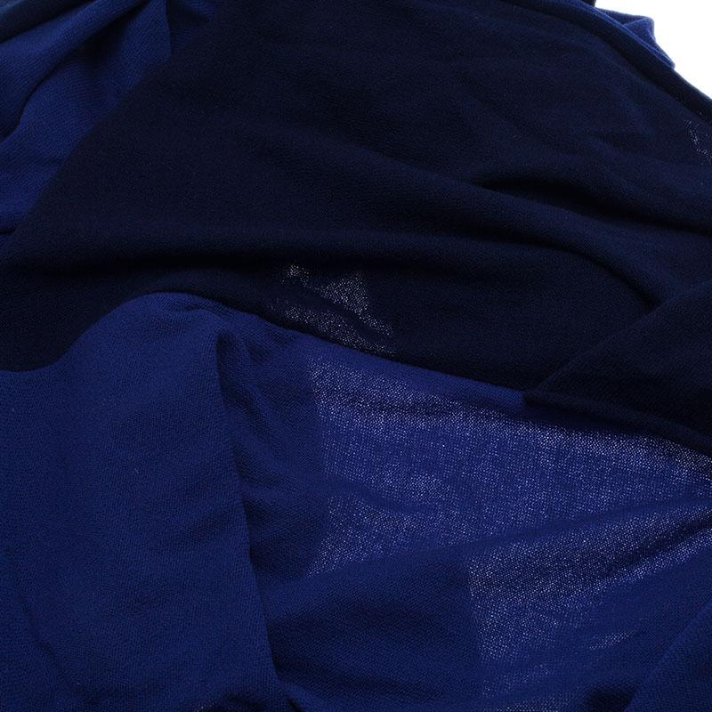 Chanel Blue Two Tone Cashmere Stole