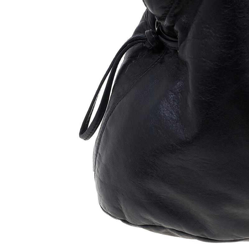 Chanel Black Lambskin Funny Tweed Tote