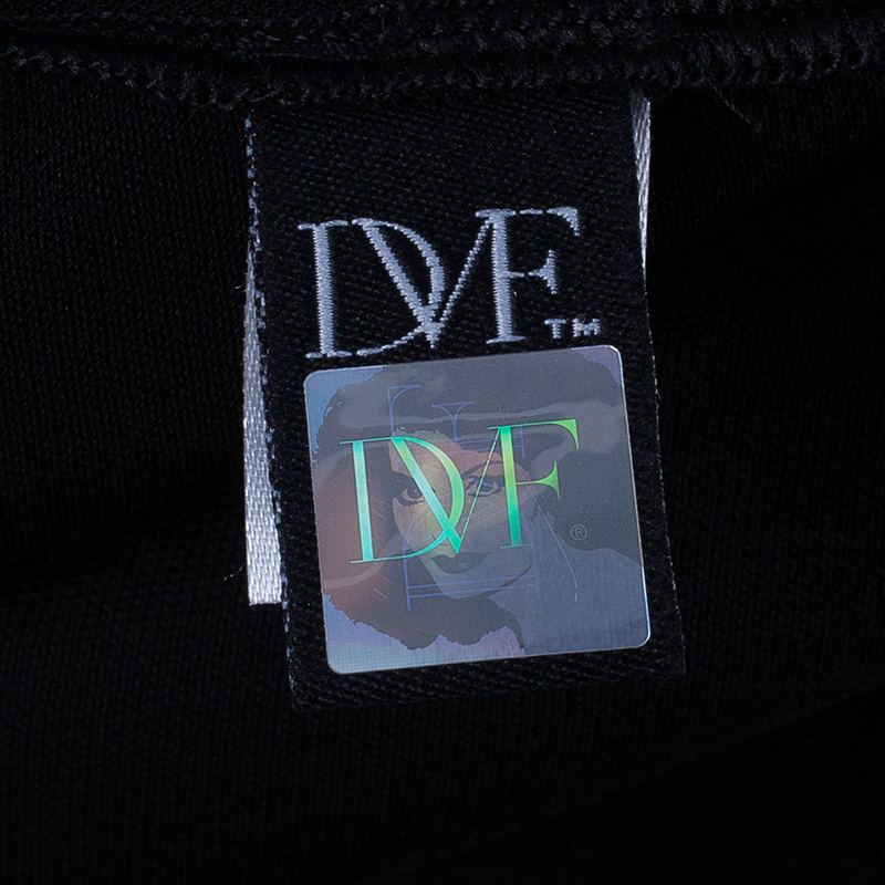 Diane Von Furstenberg Wilma Joon Jersey Black Dress