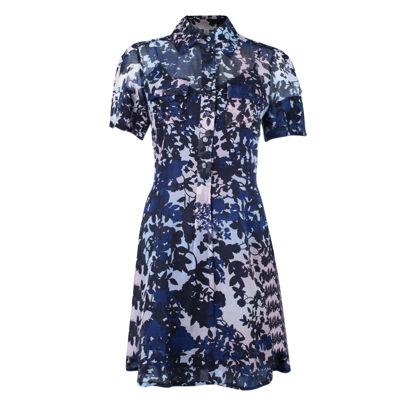 Diane Von Furstenberg Blue Keane Dress S