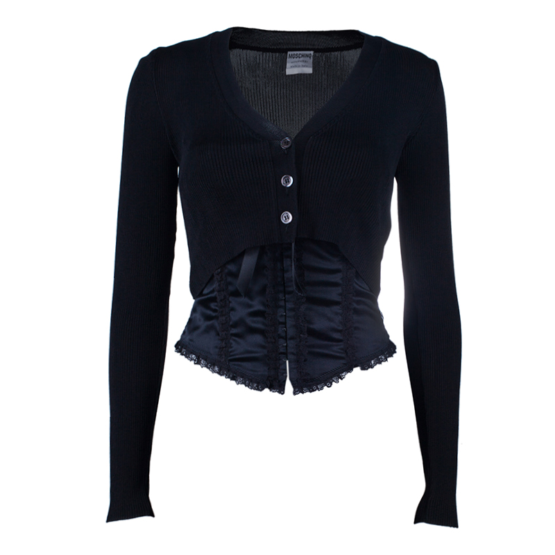 Moschino Couture Black Bustier Top + Jacket