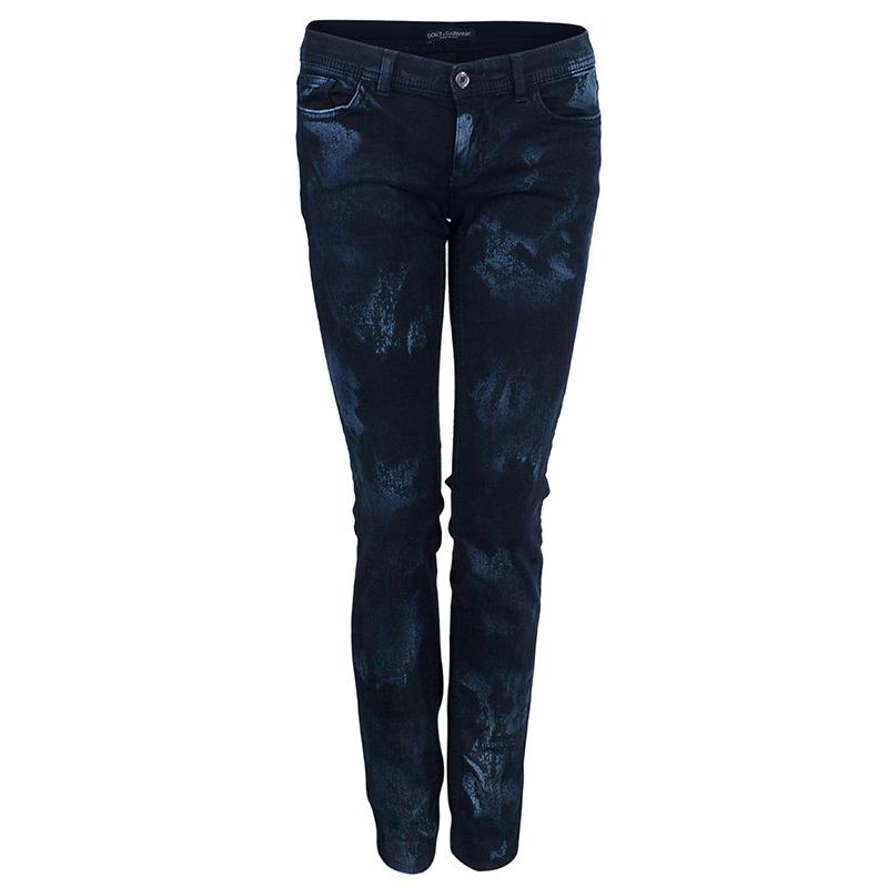 Dolce and Gabbana Blue Stonewash Denim Jeans S