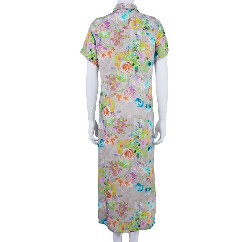 Matthew Williamson Printed Button Down Shirt Dress M