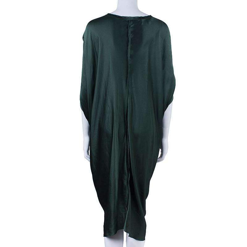Lanvin Dark Green Silk Dress M