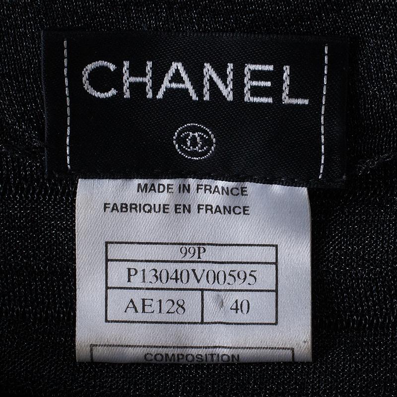 Chanel Tiered Metallic Sleeveless Top M