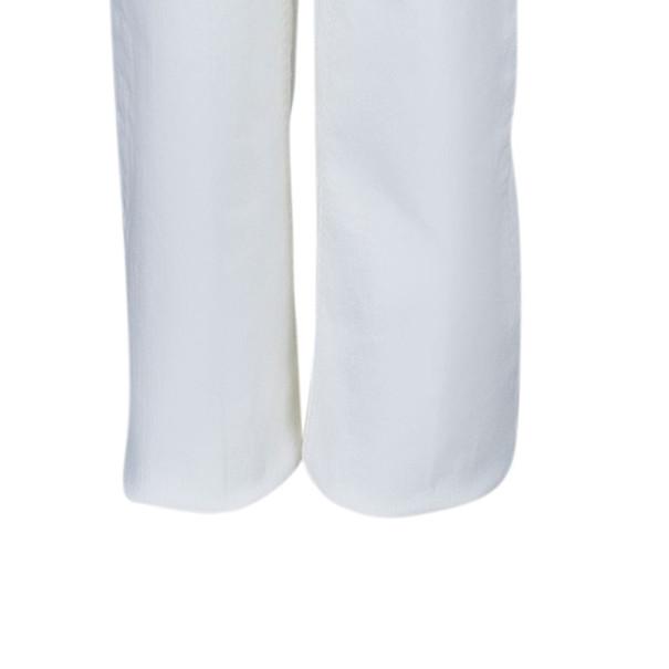 Roberto Cavalli White Flare Denim Pants M