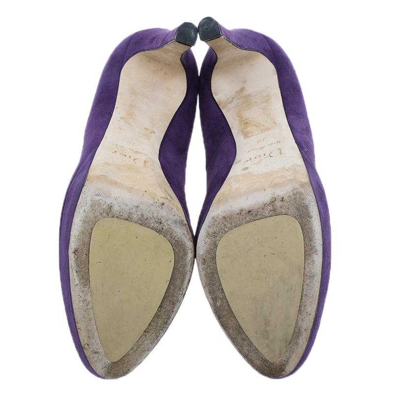 Dior Purple Suede Miss Dior Platform Pumps Size 39