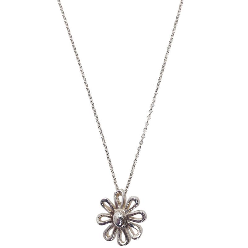 Tiffany & Co. Paloma Picasso Daisy Silver Pendant Necklace
