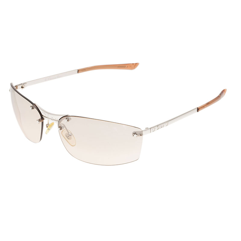 Dior Brown Rimless Sunglasses