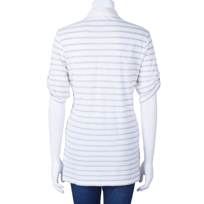 Burberry Brit Striped Polo Shirt L