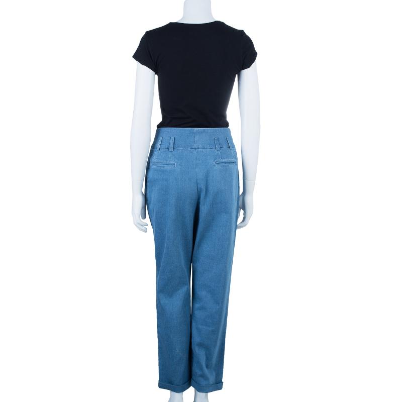 Balmain Denim Pleated Trousers M