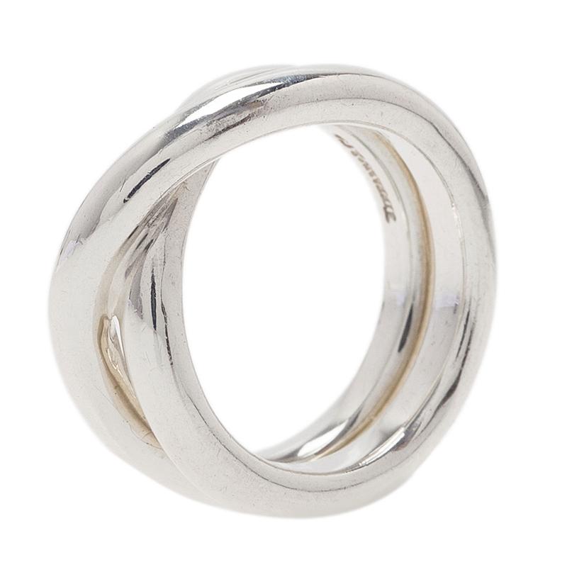 Tiffany & Co. Paloma's Calife Silver Ring Size 50.5
