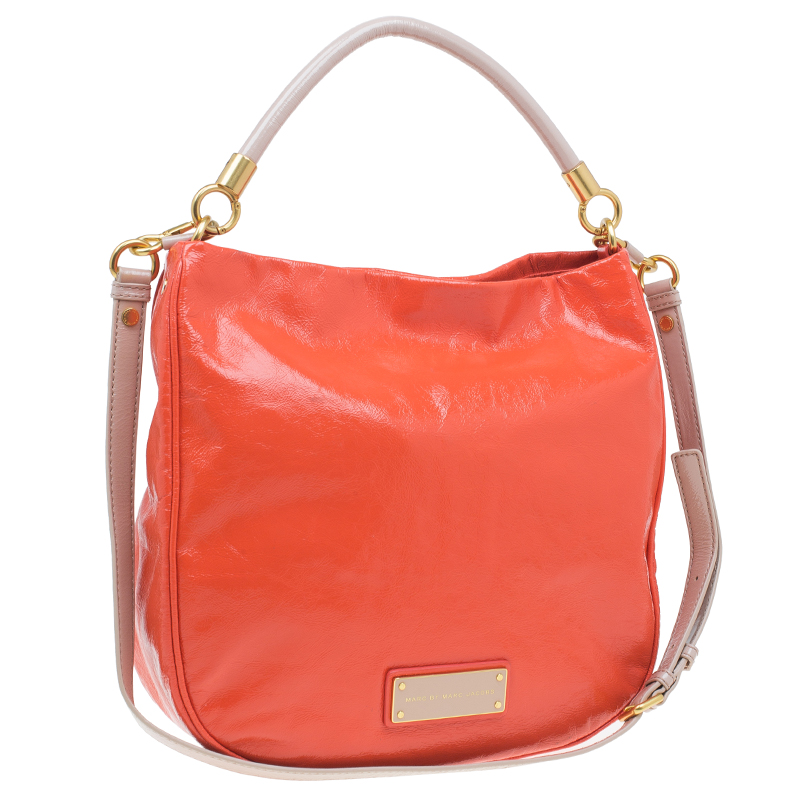 Marc by Marc Jacobs Orange Patent Leather Too Hot To Handle Hobo