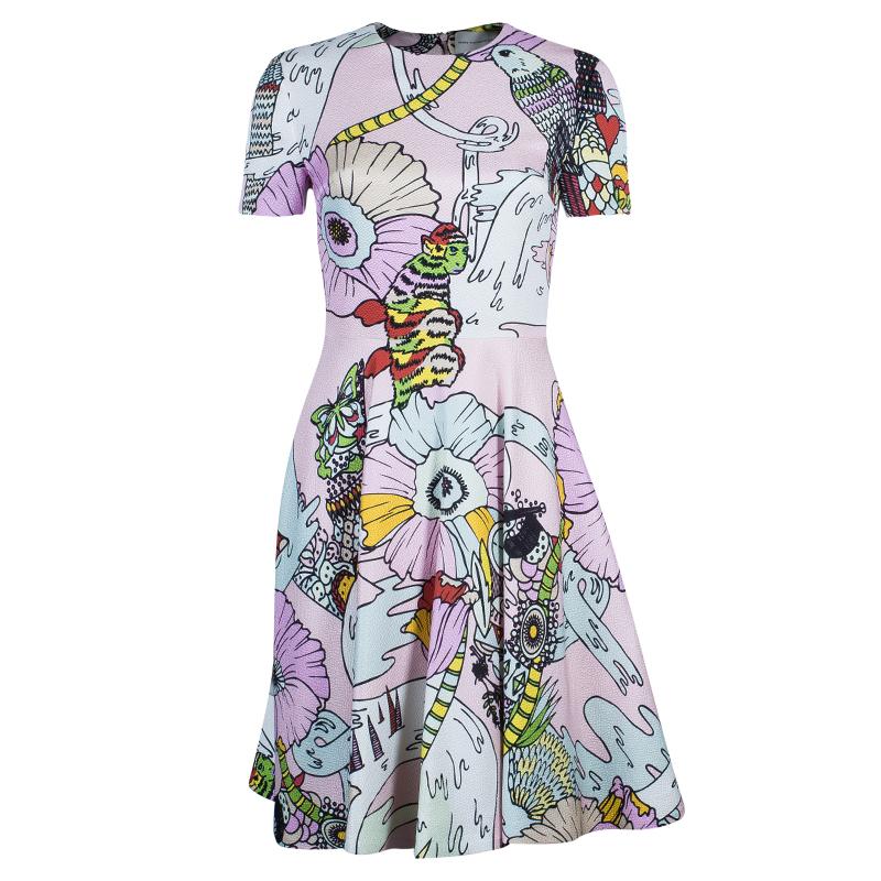 Mary Katrantzou Multicolor Graphic Print Dress S