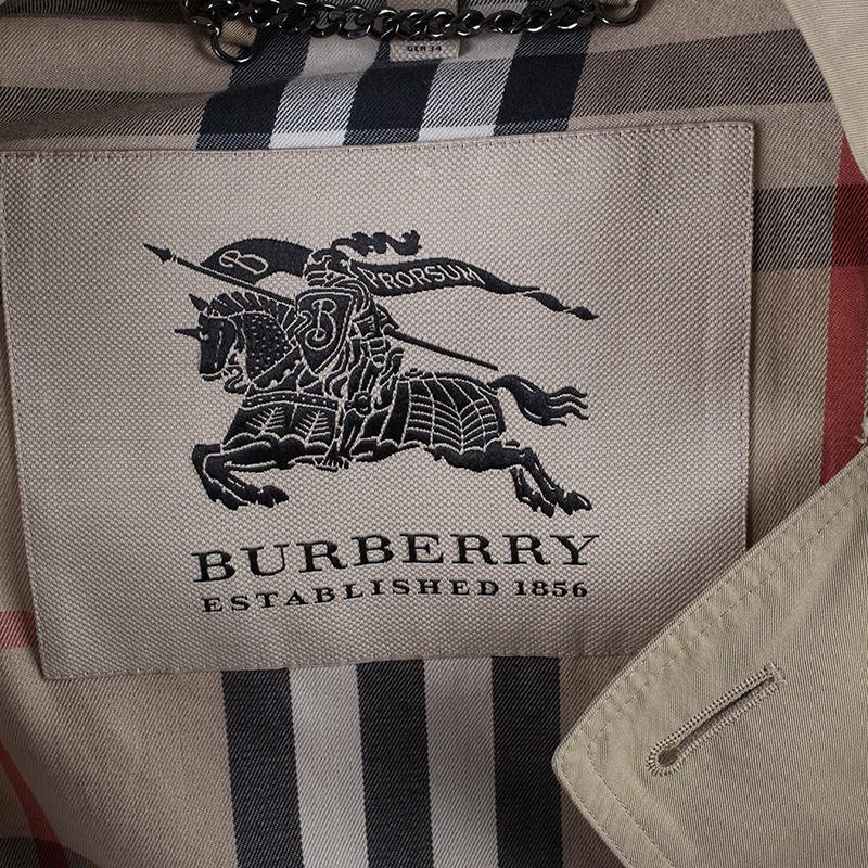 Burberry Beige Kensington Long Heritage Trench Coat S