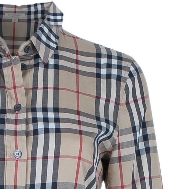 Burberry Novacheck Button Down Shirt XS