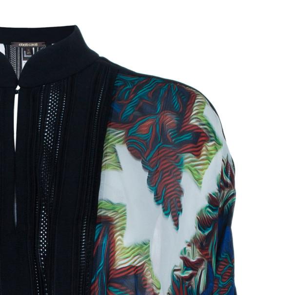 Roberto Cavalli Multiprint Knit Panel Kaftan Top S
