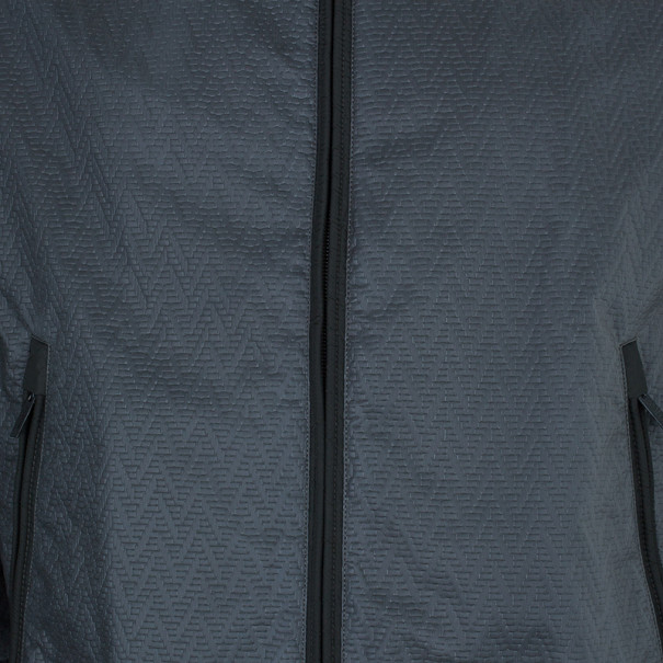 Armani Collezioni Men's Olive Green Technical Zip Front Jacket L