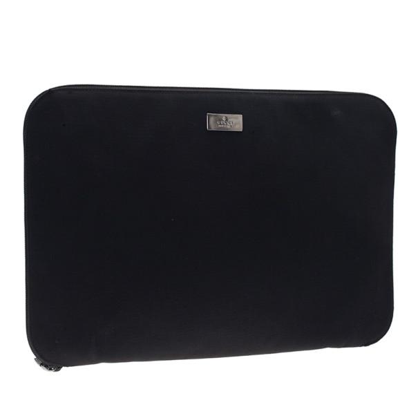 Gucci Black Nylon Laptop Case